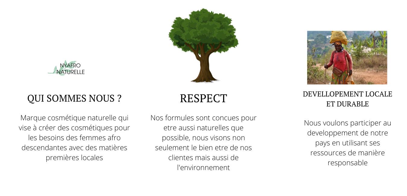 valeurs et présentation de nyafro naturelle